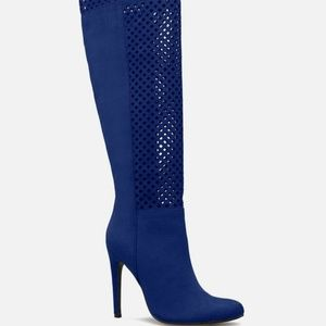 Balicia Blue Heeled Thigh High Boots Size 10